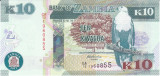 Bancnota Zambia 10 Kwacha 2012 - P51 UNC