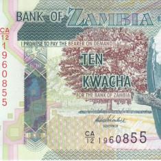 Bancnota Zambia 10 Kwacha 2012 - P51 UNC - bancnota africa