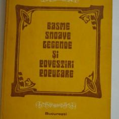 BASME, SNOAVE, LEGENDE SI POVESTIRI POPULARE - Mihail M. Robea - Carte Basme