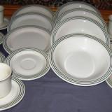 Set / Serviciu- ceai / cafea / farfurii / masa - portelan Italia - marcat - 6 persoane