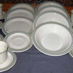 Set / Serviciu- ceai / cafea / farfurii / masa - portelan Italia - marcat - 6 persoane - Farfurie