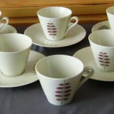 Set / Serviciu- ceai / cafea - portelan Bavaria - 6 persoane - Ceasca