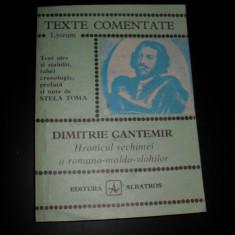 Texte comentate, Dimitrie Cantemir, Hornicul vechimei a romano -moldo-vlahilor, Stela Toma