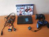 PlayStation 2 Slim Nemodat + 2 manete + 2 jocuri originale + Card de memorie Sony 8MB