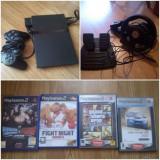 PlayStation 2 Sony+volan+jocuri