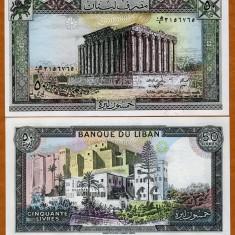 LIBAN 50 LIVRE 1988 UNC