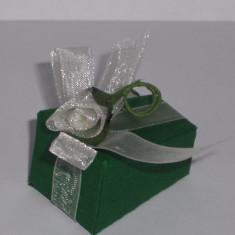 Kit 100 marturii nunta - cutii/ verde - SUPER PRET/ lichidare stoc