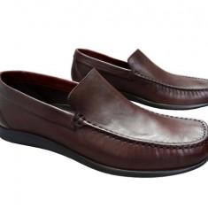 Pantofi barbati piele naturala Denis-1040-M - Pantof barbat, Marime: 42, Culoare: Maro