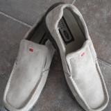 Pantofi STONE CREEK Nr. 43 - Pantofi barbat, Marime: 28.5, Culoare: Maro, Piele intoarsa, Bej