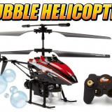 MEGA ELICOPTER CARE FACE BALOANE SAPUN+ACCESORII REZERVA! 3.5 CH Blue Bubble Copter RC Micro Gyroscope Helicopter - Elicopter de jucarie, Metal, Unisex