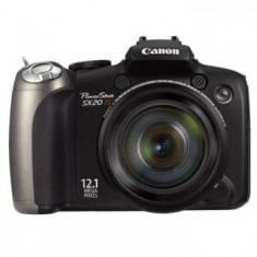 Aparat foto digital Canon PowerShot SX20 IS, 12.1 MP + trepied mic+ SDHC 32 GB - Aparat Foto compact Canon, Compact, 12 Mpx, 20x, 2.5 inch