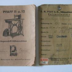REDUCERE 20 LEI! RARE! CERTIFICAT DE GARANTIE, INSTRUCTIUNI UTILIZARE SI PASAPORTUL UNEI MASINI GERMANE DE CUSUT MARCA PFAFF DIN 1938 - Diploma/Certificat