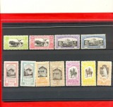 RO-39=ROMANIA 1906 Expozitia Generala Serie  de 11 timbre nestampilate SARNIERA
