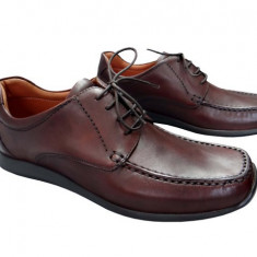 Pantofi barbati piele naturala Denis-1039-M, Marime: 41, Culoare: Maro