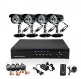 Cumpara ieftin KIT COMPLET 4 CAMERE CCTV INT./EXT.+ DVR CU INTERNET D1,INFRAROSU,CABLURI,ACCESORII.