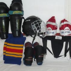 Costum de hockey pe gheata BAUER complet, pentru 8 -14 ani. - Echipament hochei