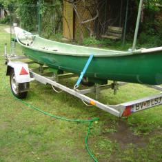 Vand barca fibra de sticla tip caiac+peridoc inmatriculat - Barca cu motor, Particular