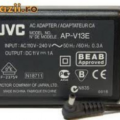 ALIMENTATOR INCARCATOR ORIGINAL JVC AP-V13E 11V 1A MUFA ROTUNDA CAMERA JVC - Incarcator Camera Video