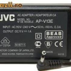 ALIMENTATOR INCARCATOR ORIGINAL JVC AP-V13E 11V 1A MUFA ROTUNDA CAMERA JVC - Incarcator Camera Video