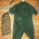 Kit snorkeling marime XXL , costum izolant, tub, labe  + accesorii