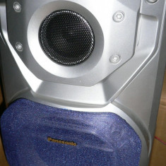 Boxe Panasonic 2x75w, in cutie, putin folosite, pret 250 ron. Combina Panasonic stereo system cu 2 boxe, pret 250 ron - Combina audio Panasonic, Tower