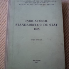 INDICATORUL STANDARDELOR DE STAT editie oficiala 1965 carte tehnica