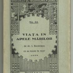 I.Bordeianu / VIATA IN APELE MARILOR -  1929 (Bibl. de popularizarea stiintei)