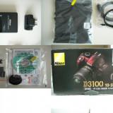Aparat foto NIKON d3100 af-s dx nikkor 18-55vr kit , nou