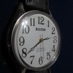 Ricom-ceas mecanic 19 rubine functional, shockproof, stare foarte buna, nepurtat.