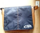 """Geanta laptop 17"""" Ford - piele naturala si nylon - NOUA"""