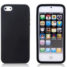 Husa Silicon Apple iPhone 5 5S Black - Husa Telefon