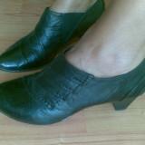 Pantofi din piele marimea 38, sunt noi! - Pantof dama, Culoare: Negru, Negru