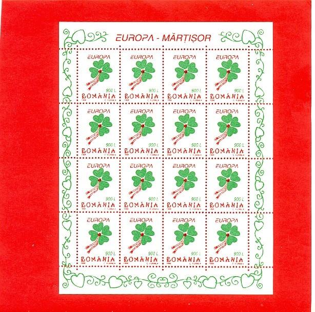 RO-74=ROMANIA 1998 Europa Martisor bloc de 16 timbre MNH(**)