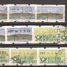 Lot timbre de automat, Germania, stampilate - Timbru de Automat