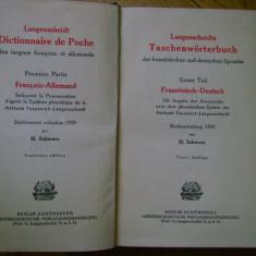 H. Schwarz - Dictionar francez - german 1929 Berlin Langenscheidts Taschenworterbuch Franzosisch - Deutsch bibliofilie