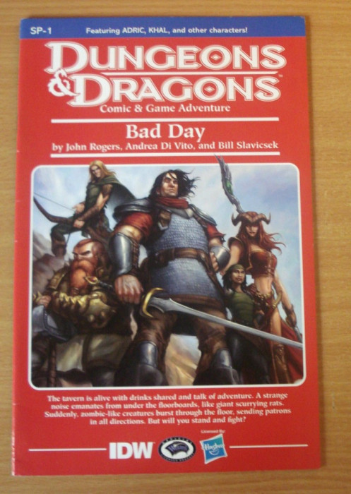 Dungeons and Dragons - Bad Day #1 . IDW Comics