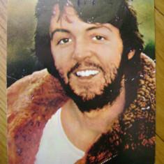 Carte postala Paul McCartney The Beatles anii 1970 razand ACIN Casa Filmului necirculata