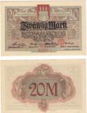 !!! NOTGELD  GERMANIA : ALTONA - 20  MARCI 1918 - UNC