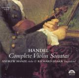 HANDEL COMPLETE VIOLIN SONATAS,  ANDREW MANZE / RICHARD EGARR, Harmonia Mundi