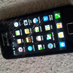 SAMSUNG GALAXY ACE GT S5830 BLACK FULL CARD 8GB SCHIMB IPHONE 4 4S S2 XPERIA - Telefon mobil Samsung Galaxy Ace, Negru, Neblocat