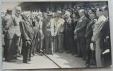 Excursia Tinerimii , 1938 , Primirea in gara Brasov , grup de personalitati