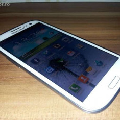Samsung Galaxy S3 16 gb Alb Neverlocked - Telefon mobil Samsung Galaxy S3, Quad core, 2 GB, 2G & 3G