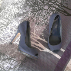 Pantofi eleganti Bershka - Pantof dama, Culoare: Bleumarin, Marime: 38, Bleumarin