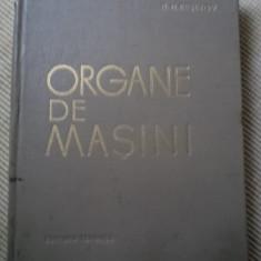 Organe de masini resetov carte tehnica mecanica desene editura tehnica 1963 - Carti Mecanica