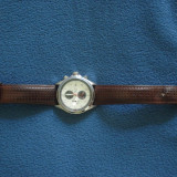 Ceas Enzo Tempo Milano Chronograph 10 atm - Ceas barbatesc, Lux - sport, Metal necunoscut, Piele, Cronograf, Analog