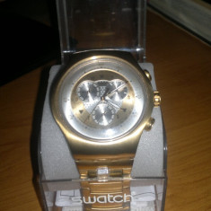 Ceas swatch irony chrono gold big - Ceas barbatesc Swatch, Lux - elegant, Metal necunoscut, Cronograf, 2000 - prezent