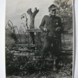 REDUCERE 20 LEI! UNICAT! FOTOGRAFIE ORIGINALA COLECTIE SOLDAT WEHRMACHT, CU STAMPILA VULTURULUI NAZIST PE VERSO - Fotografie veche