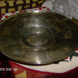 Tava frumoasa metal argintat - Metal/Fonta, Vase