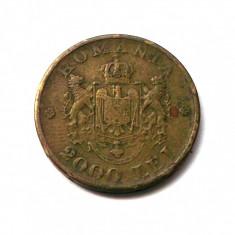 G2. ROMANIA 2000 LEI 1946 VARIANTA SCUTUL MIC PLIN STANGA JOS SI DREAPTA SUS ** - Moneda Romania