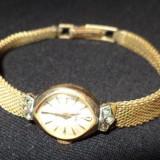 Ceas de dama,''MOD'',E.B. Swiss Made,placat aur